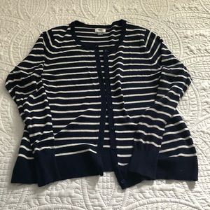 EUC Navy and White Old Navy Cardigan